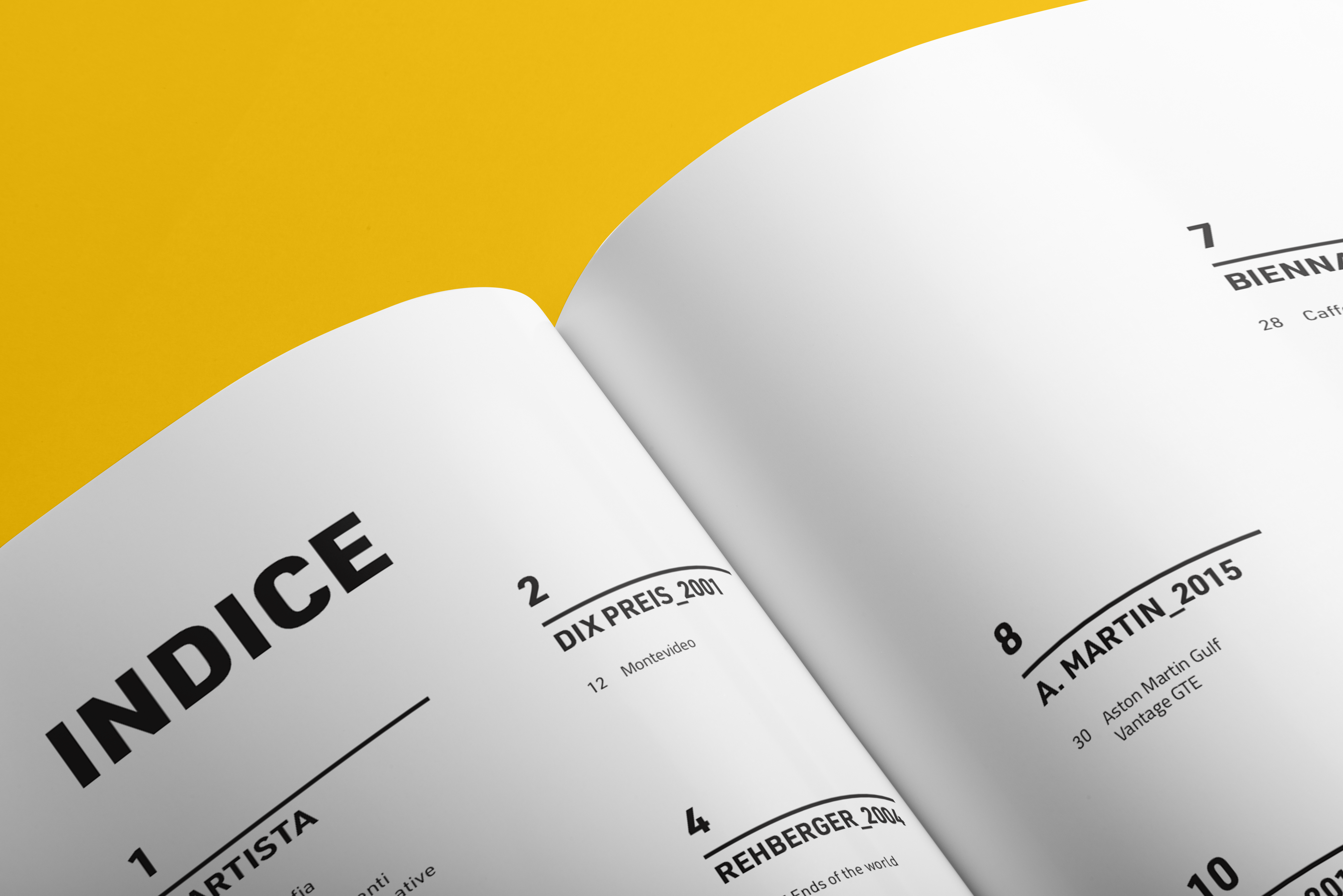 indice booklet
